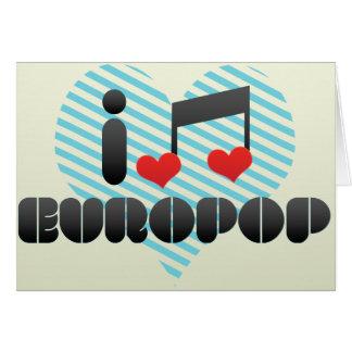 Europop fan greeting card
