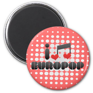 Europop fan refrigerator magnet