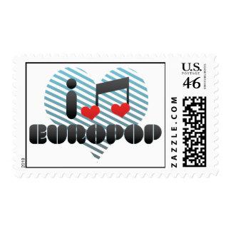 Europop fan postage stamp