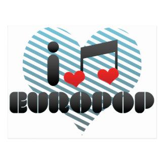 Europop fan postcard