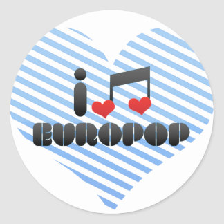 Europop fan classic round sticker