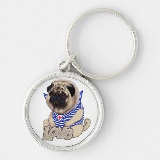 Europug Bear-Pug Premium Round Keychain