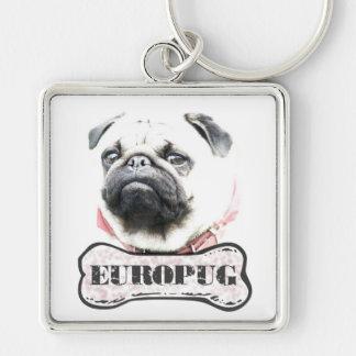 Europug Brutal Face Premium Square Keychain
