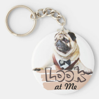 Europug Look At Me Basic Button Keychain