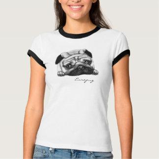 Europug The Sad Face Ladies Ringer T-Shirt