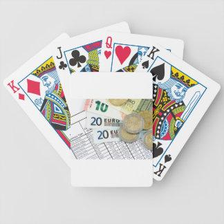 Euros Bicycle Playing Cards