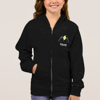 EuroSpin Girls Zip Hoodie Dark Colors