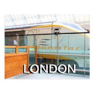 Eurostar St Pancras Kings Cross London UK postcard