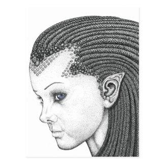 Euryale (cara) - postal en blanco