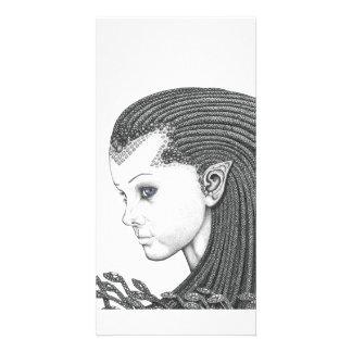 Euryale (cara) - tarjeta de la foto tarjetas con fotos personalizadas