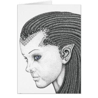 Euryale (cara) - tarjeta de nota en blanco