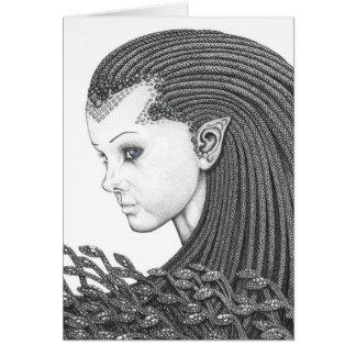 Euryale - tarjeta de felicitaciones en blanco