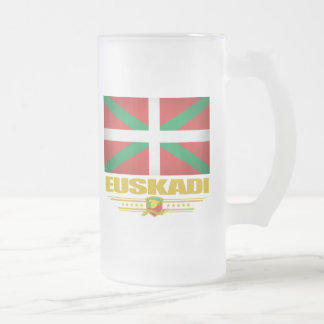Euskadi (país vasco) taza de cristal
