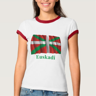 Euskadi (País Vasco) waving flag with name T-Shirt