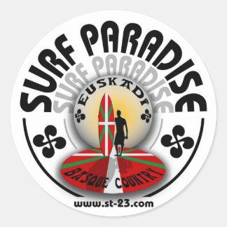 euskadi surf paradise round stickers