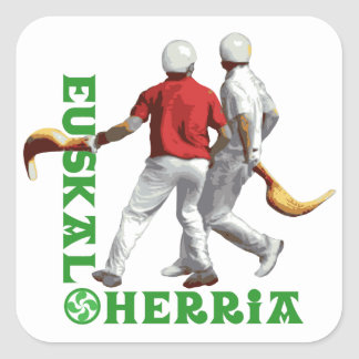 Euskal Herria: Basque sport jai alai (jai-alai) Square Sticker