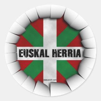 euskal herria sticker autocollants ronds