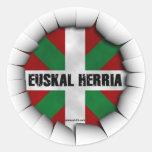 euskal herria sticker pegatina redonda
