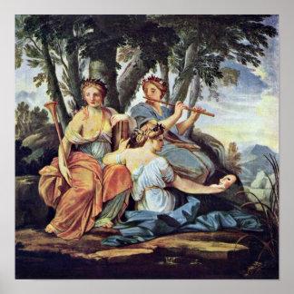 Eustache Le Sueur - Euterpe y Thalia de las musas Impresiones