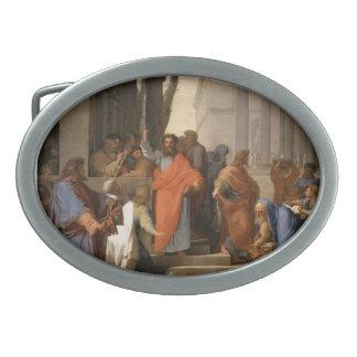 Eustache Le Sueur-Preaching of St. Paul at Ephesus Oval Belt Buckles