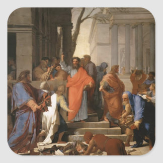 Eustache Le Sueur-Preaching of St. Paul at Ephesus Stickers