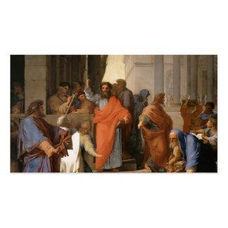 Eustache Le Sueur-Predicar de San Pablo en Ephesus Tarjetas De Visita