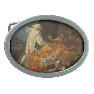 Eustache Le Sueur- St. Bruno Appearing to Comte Oval Belt Buckle