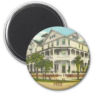 Eustis, FL - Grandview Hotel - 1925 2 Inch Round Magnet