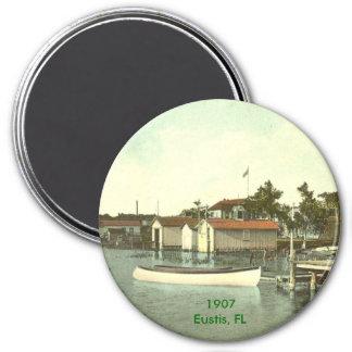 Eustis, FL - Waterfront - 1907 3 Inch Round Magnet