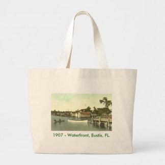 Eustis, FL  - Waterfront - 1907. Large Tote Bag