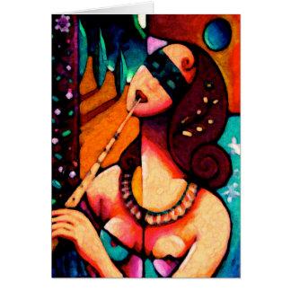Euterpe Mythology Goddess Muse of Music Card