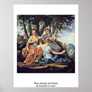 Euterpe y Thalia de las musas de Eustache Le Sueur Posters