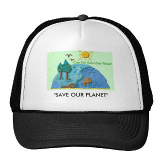 """EV Awarenes Now, """"SAVE OUR PLANET"""" Trucker Hat"""