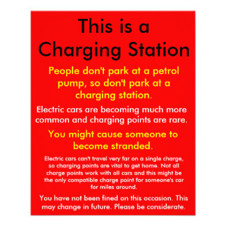 EV charging point awareness flyer