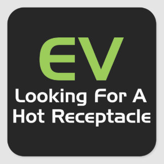 EV Looking For A Hot Receptacle Square Sticker
