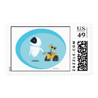 EVA and WALL-E Postage Stamps