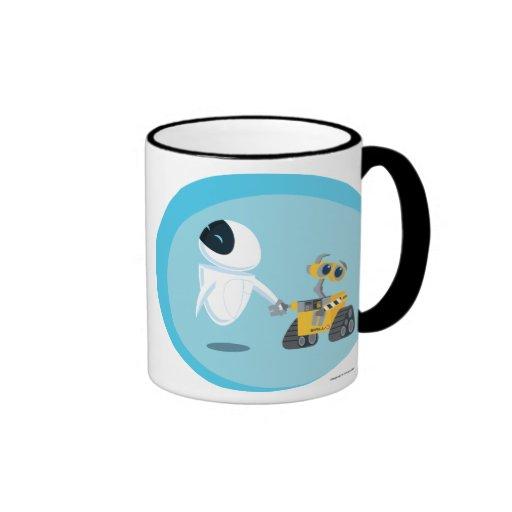 EVA and WALL-E Ringer Coffee Mug