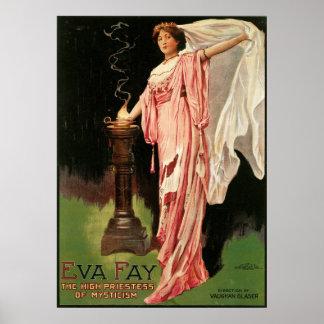 Eva Fay ~ The High Priestess of Mysticism Magic Poster