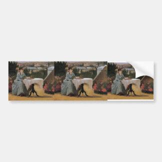 Eva Gonzales- Afternoon Tea (aka On the Terrace) Car Bumper Sticker