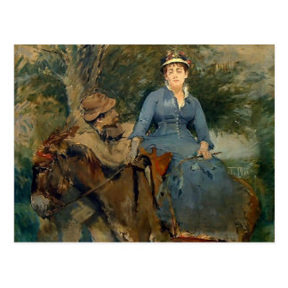 Eva Gonzales- The Donkey Ride Postcard