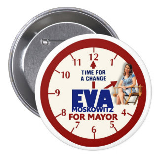 Eva Moskowitz for NYC Mayor 2013 3 Inch Round Button