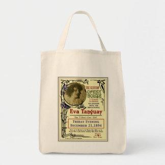Eva Tanguay Keator Opera House Art Nouveau Poster Grocery Tote Bag