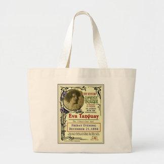 Eva Tanguay Keator Opera House Art Nouveau Poster Large Tote Bag