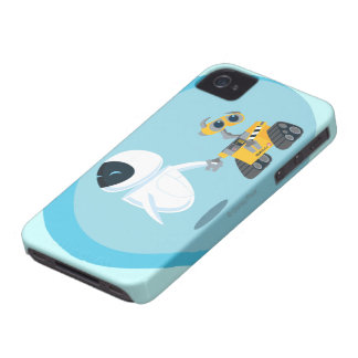 EVA y WALL-E Case-Mate iPhone 4 Protectores
