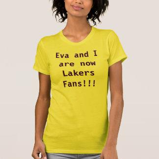 ¡Eva y yo somos fans de los nowLakers!!! Poleras