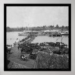 Evacuación militar en el puerto real, VA 1864 Posters