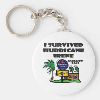 Evacuate Hurricane Irene Basic Round Button Keychain