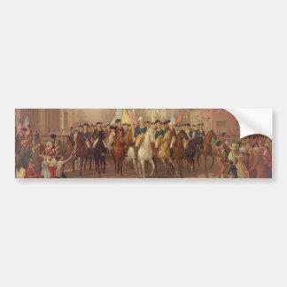 Evacuation day and Washingtons New York Entry 1783 Bumper Sticker