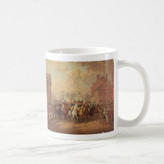 Evacuation day and Washingtons New York Entry 1783 Coffee Mug