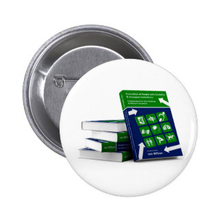 Evacuation of People with Disability Book Cover Pinback Button